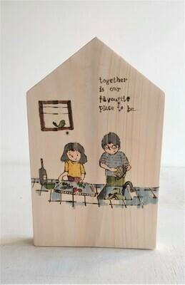 "Customized ""Couple"" Wall Key Holder"