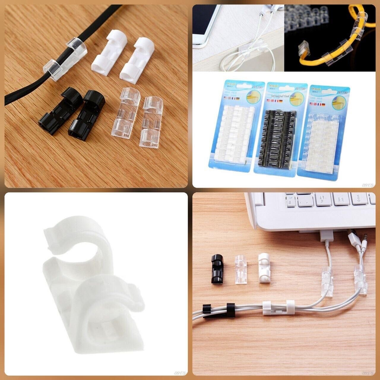20 Pc Plastic Wire Cable Holders