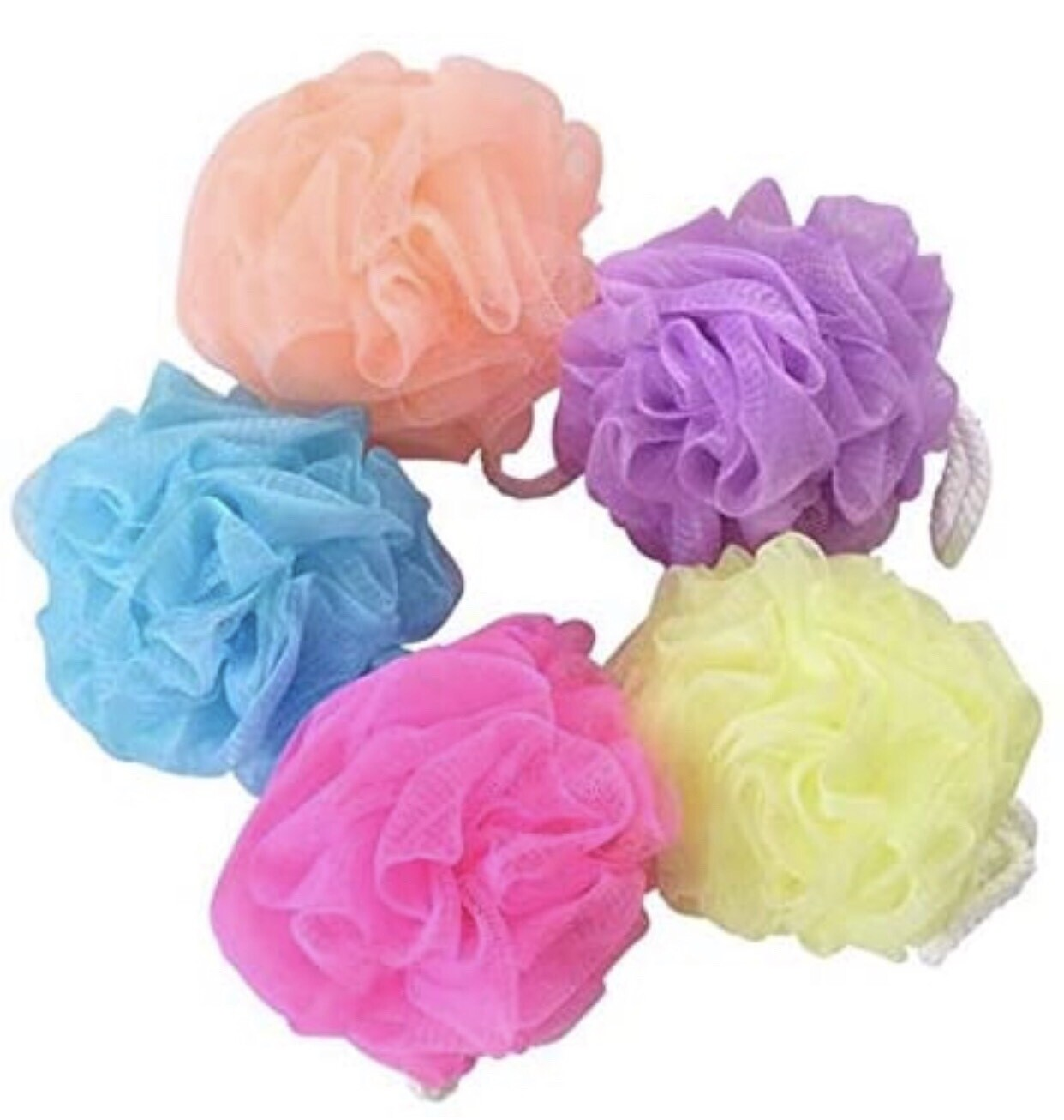 Basic Nylon Bath Scrubber (set Of 12)