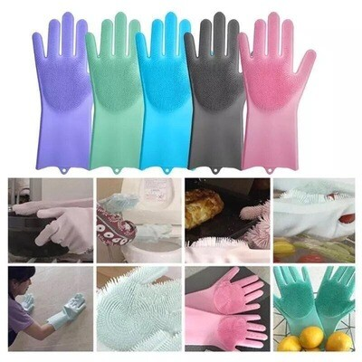 Silicon Cleaning Gloves