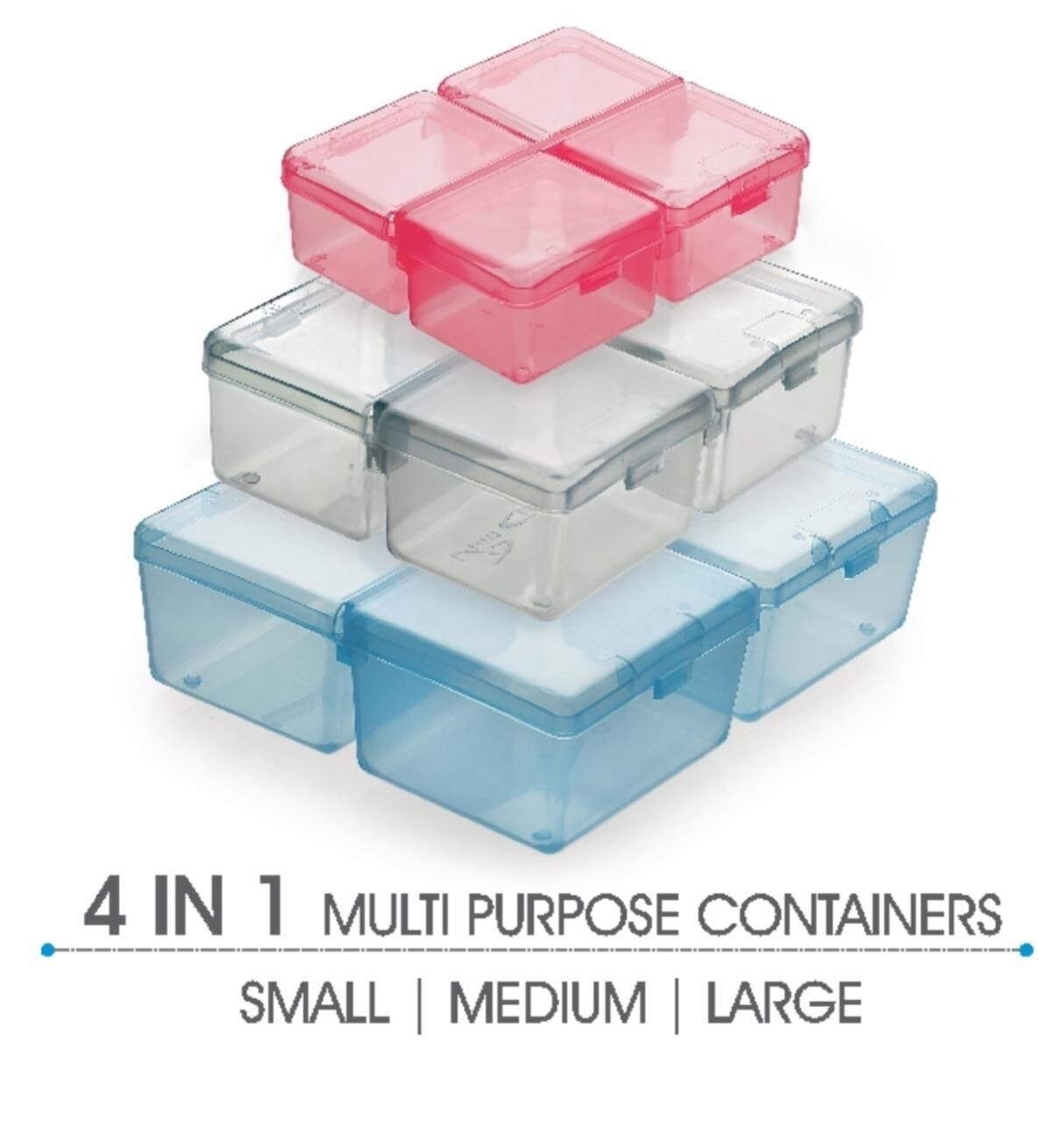 4 In 1 Multipurpose Containers (Small)