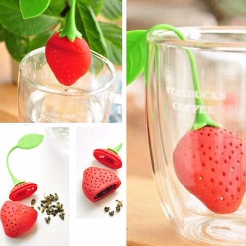 Strawberry Shaped Silicon Strainer