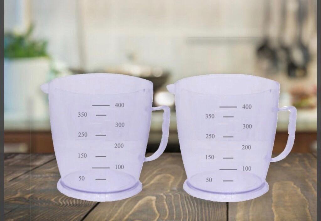 400 Ml Transparent Measuring Cups (set Of 2)