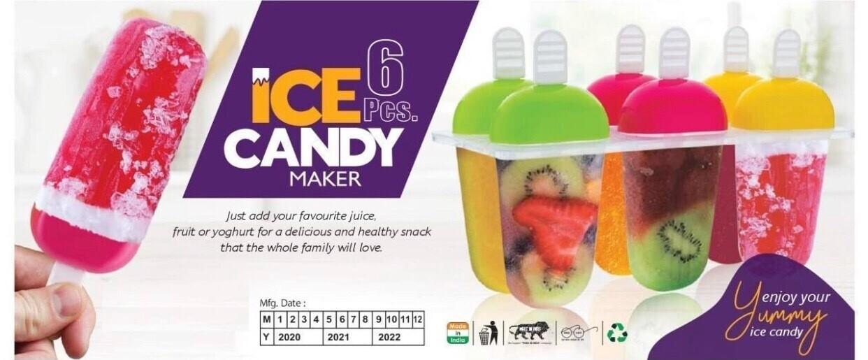 Ice Candy / Kulfi Maker (6 Cavity)