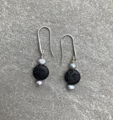 Ohrhänger Lava Perlen