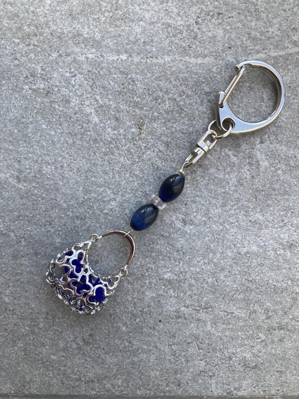 Taschenschmuck Minitasche in Blau