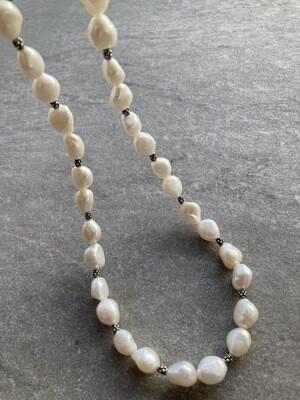 Collier Perlen barock