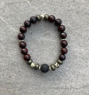 Aroma Armband Jaspis und Pyrit