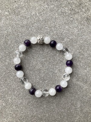 Armband Jade Amethyst Bergkristall