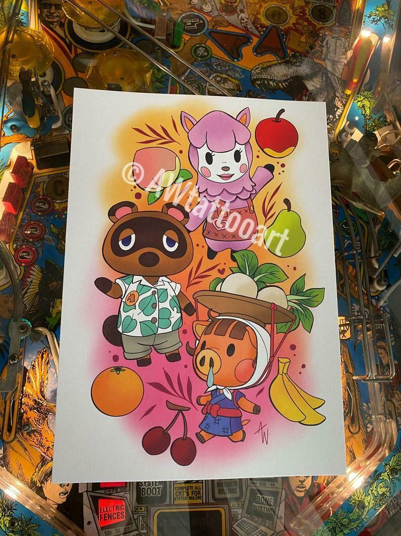 Animal Crossing Print A4