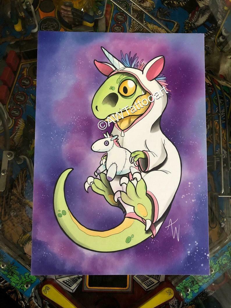 Pyama Raptor Print