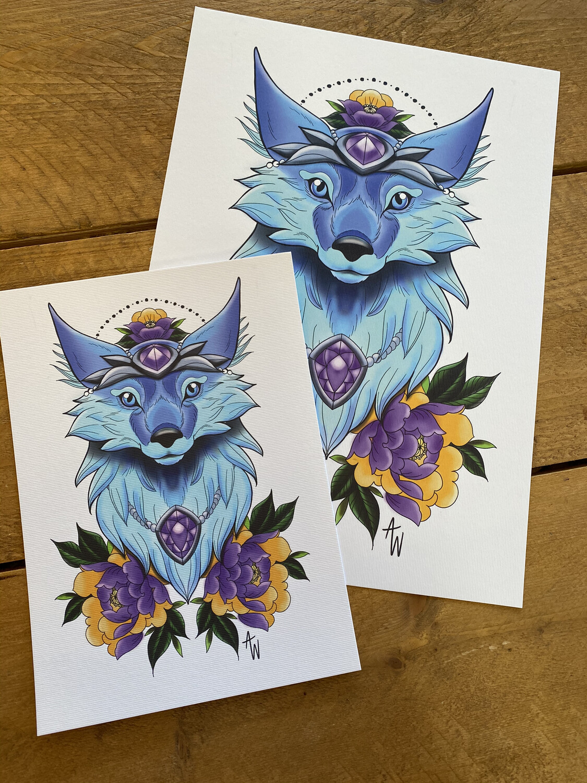 Vulpine Familiar Print