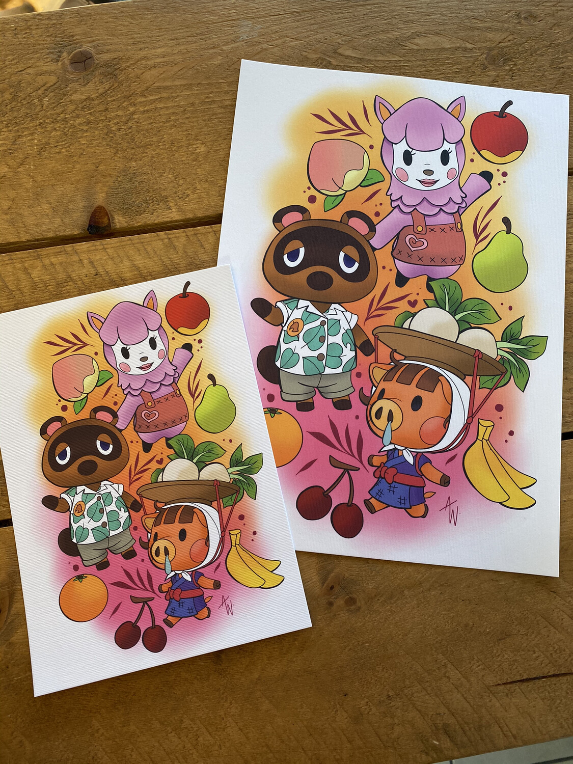 Animal Crossing Print A4