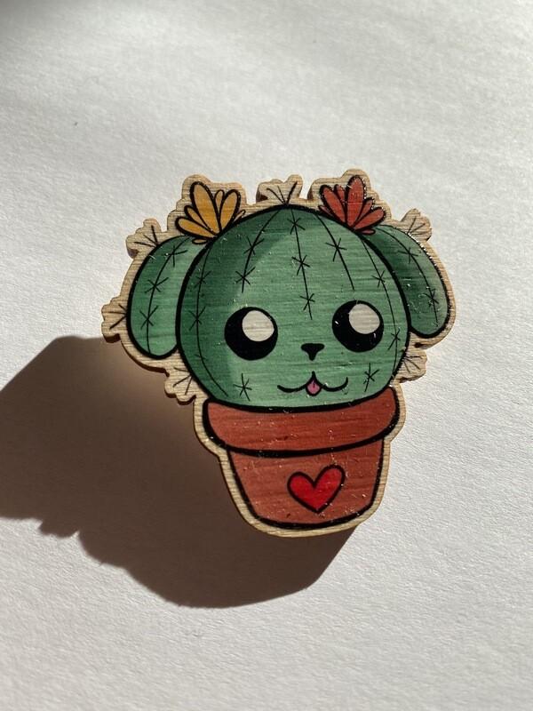 Cactus Doggie Pin