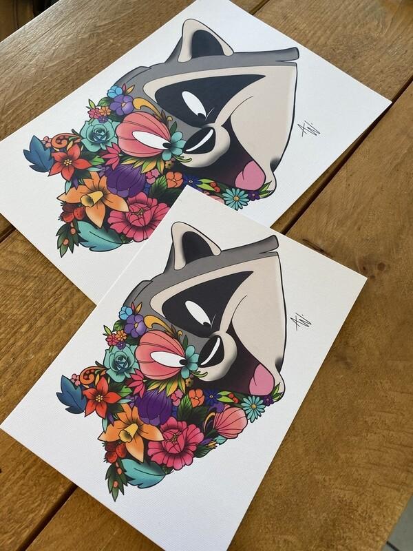 Floral Meeko Print