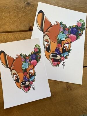 Floral Bambi Print