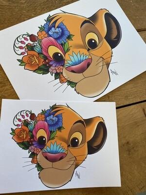 Floral Simba Print