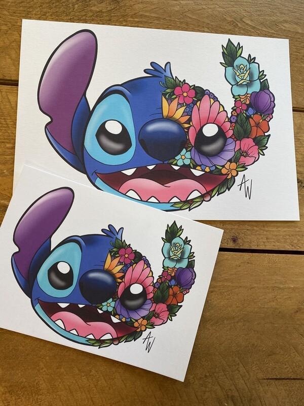 Floral Stitch Print