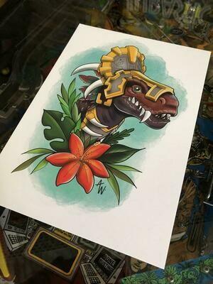 Raptor Loa Gonk Print