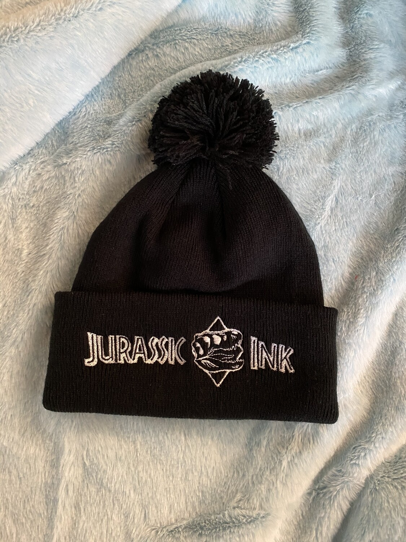 Jurassic Ink Beanie Pom Pom
