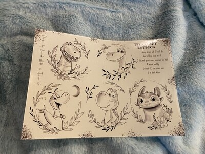 Velletje tijdelijke tattoos Dino's