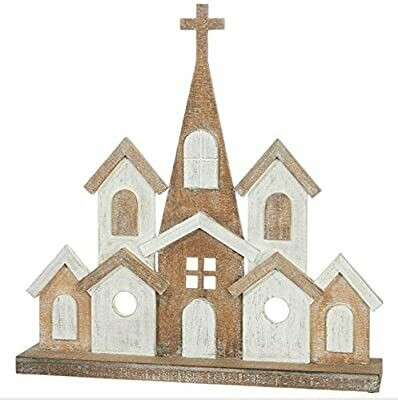 "24.25"" Wooden Church"