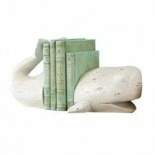 Resin Whale Bookends