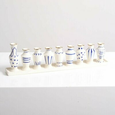 Blue & White Menorah