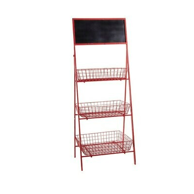 "54"" Red Basket Stand"