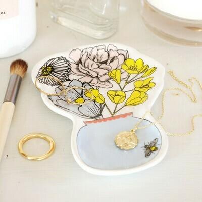 Wildflower Vase Trinket Dish