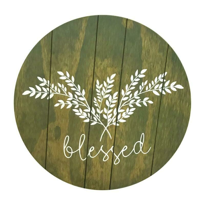 """Lazy Susan 18"""" Blessed"""