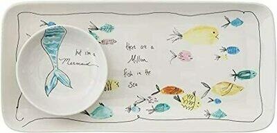 Fish & Mermaid Platter Set