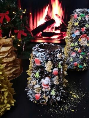 Puoštas kalėdinis šakotis