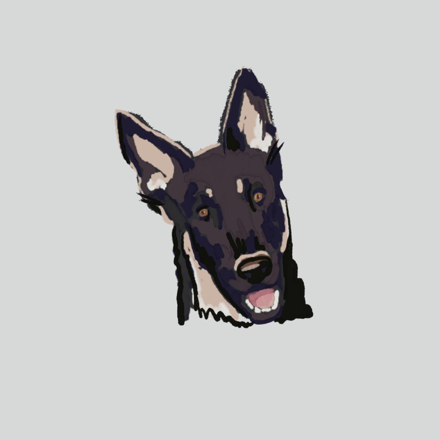 Digital Dog Portrait