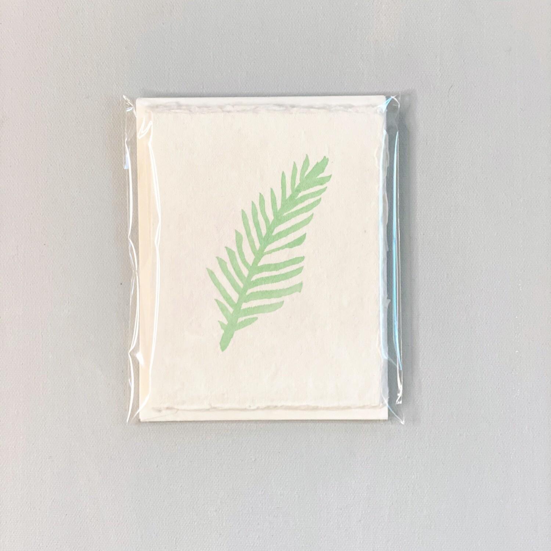 Green Fern Handmade Notecards