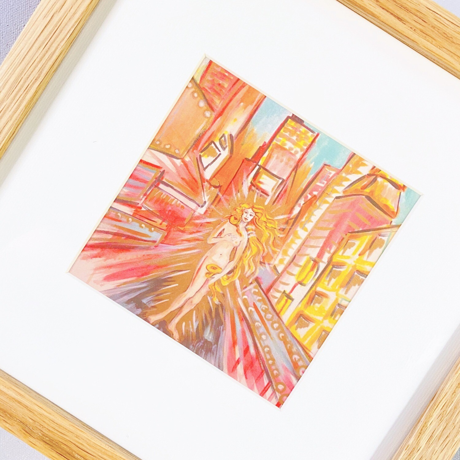 'Venus in the City' Framed Art Print