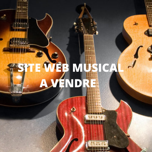 SITE WEB MUSICAL À VENDRE. 50$/mois