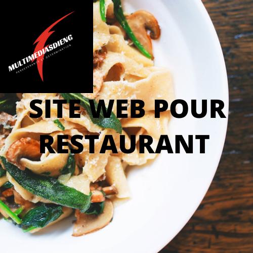 SITE WEB POUR RESTAURATION  À VENDRE 50$/mois