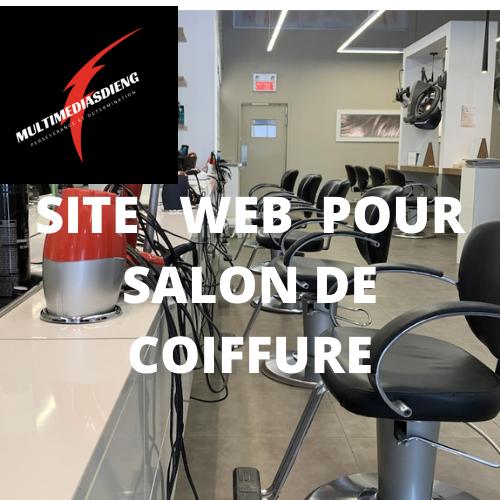 SITE WEB POUR SALON DE COIFFURE  À VENDRE  50$/mois