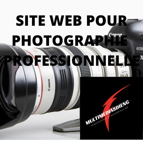 SITE WEB  POUR PHOTOGRAPHIE PROFESSIONNELLE  50$/mois