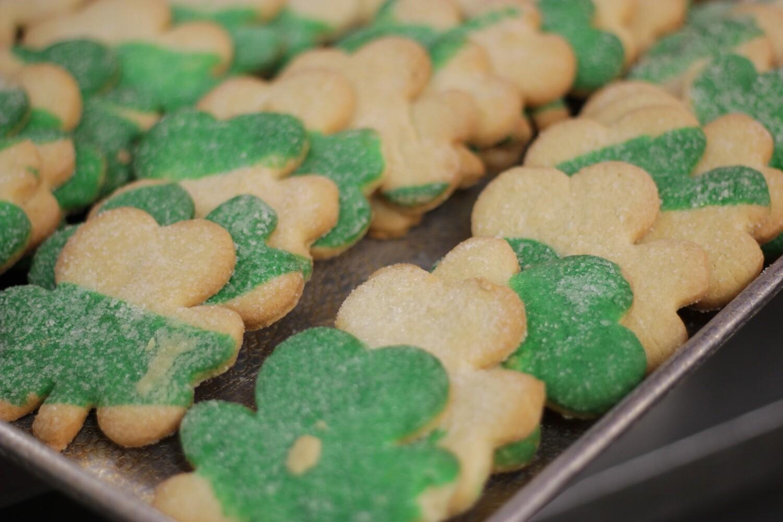 Shamrock Sugar Cookies ~ 1 dozen