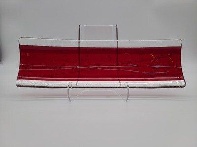 Red Iridescence Small Channel Tray