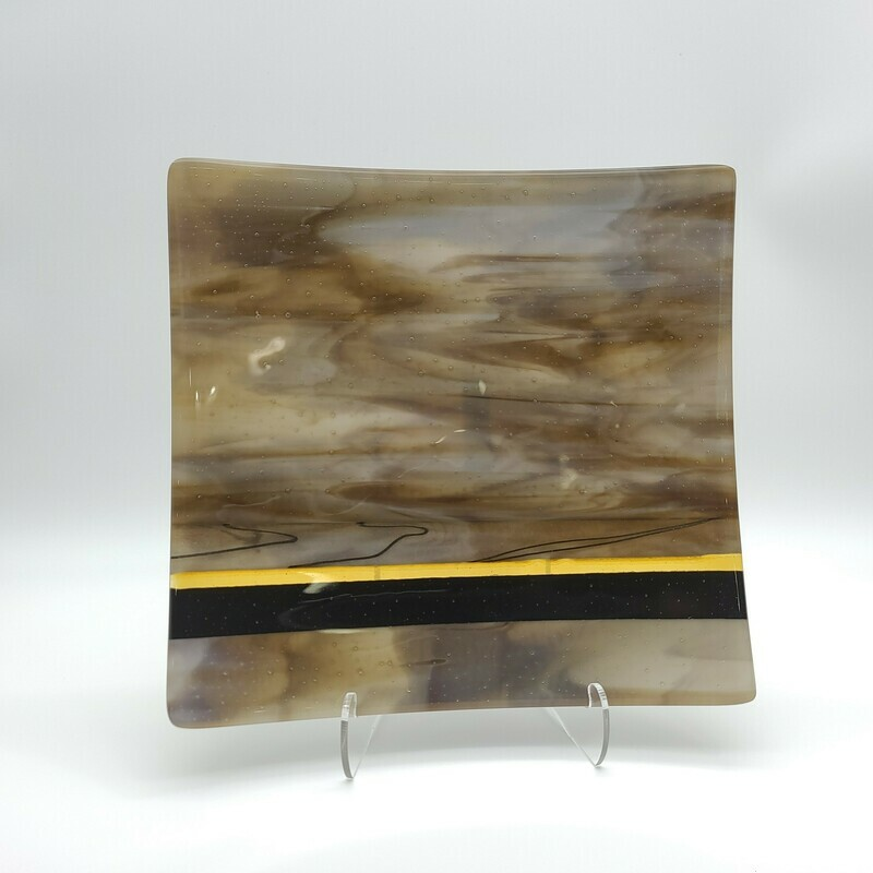 Browns Streaky with and Amber Accent Small Platter