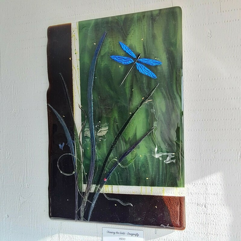 Chasing the Gold - Dragonfly Wall Art