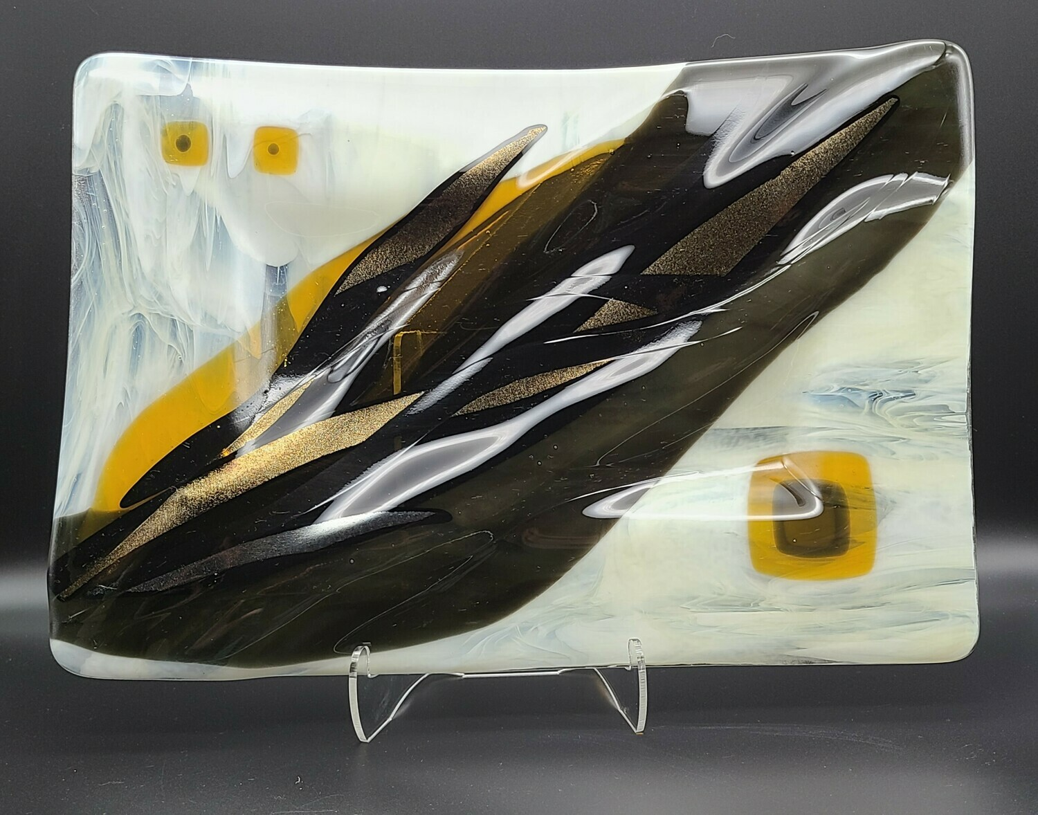 Kelp Grasses Tray with Amber Accents Tray