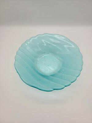 Turquoise Wavy Bowl
