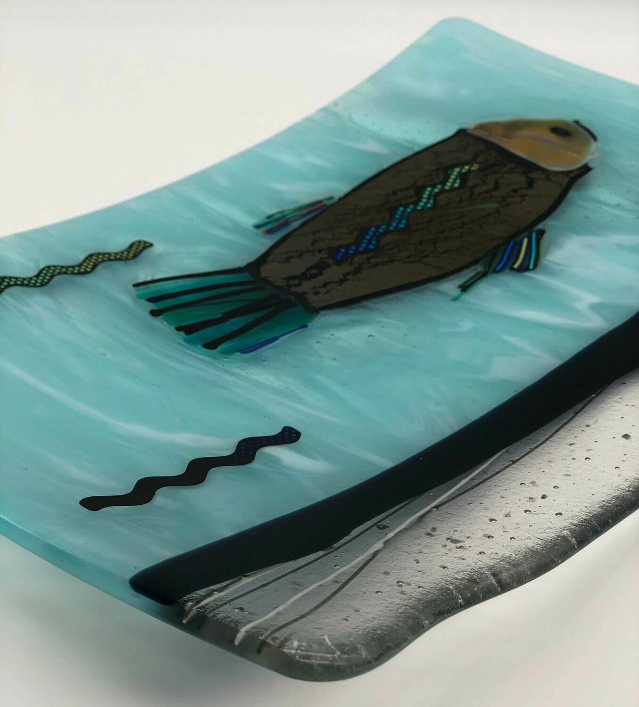 Aqua Blue Platter