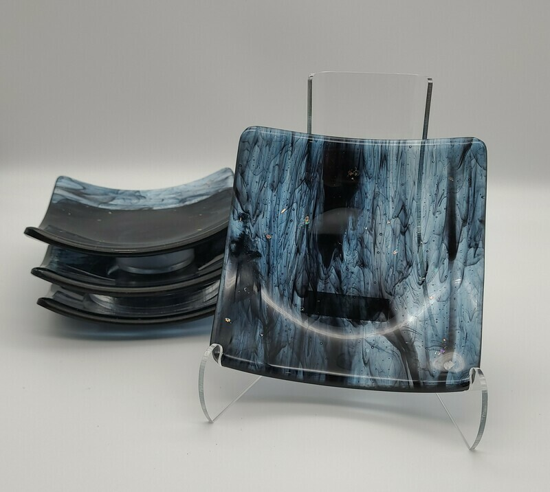 Square Appetizer Plates or Coasters  (set of 4)
