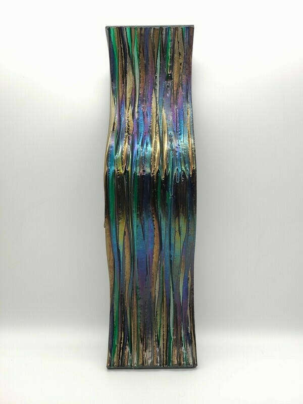 Iridescent Wavy Wall or Table Art