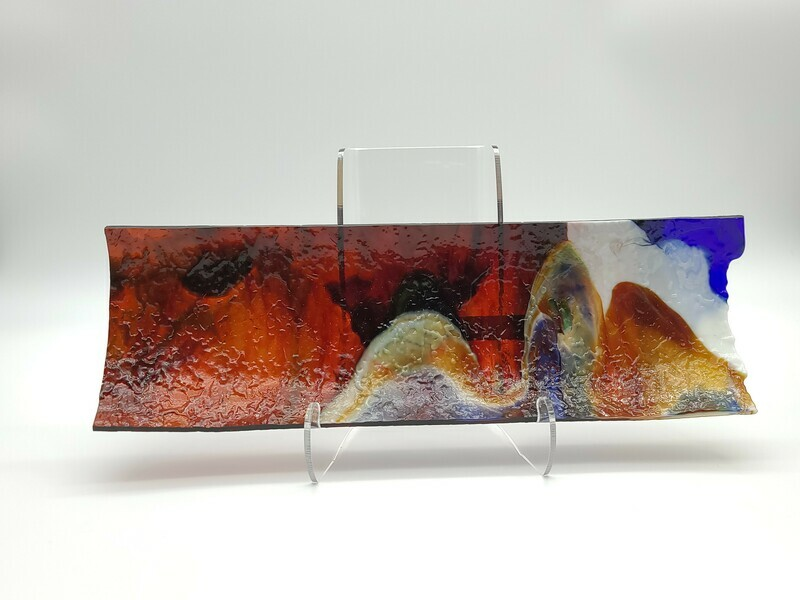 Rippled Colorful Small Channel Tray